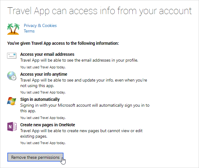 App Access Personal Data From Your Microsoft Account