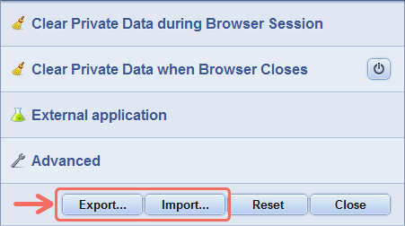 Click and Clean Import / Export