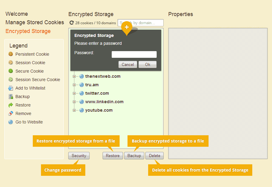 Encrypted Storage