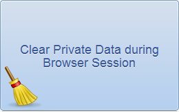 Clear Private Data during Chrome Session