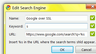 Add Search Engine to the Chrome
